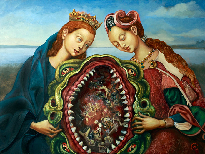 Hell Mouth (painting) - Carrie Ann Baade
